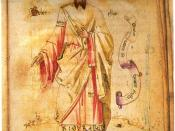 Jābir ibn Hayyān (Geber), a Persian alchemist whose experimental research laid the foundations for chemistry.