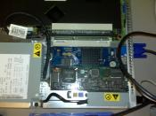 An IBM Remote Supervisor Adapter II installed in an eServer 326
