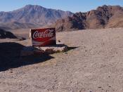 """English: Sign """" Coca-Cola """" in the mountains of the High Atlas, in Berber country (Morocco). Français : Pancarte « Coca-Cola » dans les montagnes du Haut Atlas, en pays berbère (Maroc)."""