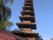 Enchanted Tiki Room tower at Magic Kingdom