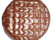 English: A McVitie's chocolate digestive biscuit.