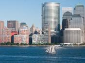 Hudson river sailboat