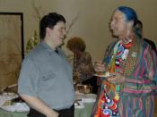 Ethan Hurd & Patch Adams at the 2002 Conference on World Affairs. Boulder, Colorado