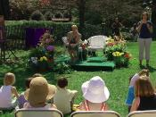 Author J.K. Rowling answers questions after reading from Harry Potter and the Sorcerer's Stone at the Easter Egg Roll at White House. Screenshot taken from official White House video.