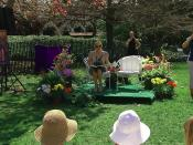 Author J.K. Rowling about to read from Harry Potter and the Sorcerer's Stone at the Easter Egg Roll at White House. Screenshot taken from official White House video.