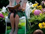 Author J.K. Rowling reads from Harry Potter and the Sorcerer's Stone at the Easter Egg Roll at White House.