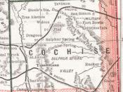 English: Main Author: Cram, George F. Title/Description: Arizona Publication Info: Chicago: Henry S. Stebbing, 1884; from Cram's Unrivaled Family Atlas of the World Date: 1884 Scale: 1:2,344,320 Notes: Enlarged and cropped Cochise County portion of map