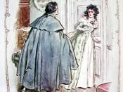 English: Sense and Sensibility (Jane Austen Novel), ch.44. Willoughby is coming at Cleverland to explain himself and beg Marianne's forgiveness Français : Sense and Sensibility (Jane Austen), ch.44 : Willoughby, ayant appris la maladie de Marianne supplie