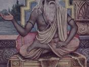A portrayal of Vyasa, who classified the Vedas in to four parts, and author of the Mahabharata, which includes the widely read Bhagavad Gita.