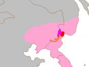 English: Amur Leopard distribution
