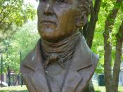 English: Bronze image of Robert Gourlay, Toronto, Canada. Image by User:Leonard G. Plaque on base reads: :Robert Gourlay championed reform ahead of his time. In Scotland-a vote for every man who could read and write In England-a living wage for workers In