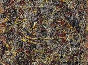 Jackson Pollock, No. 5, 1948, oil on fiberboard, 244 x 122 cm. (96 x 48 in.), private collection.