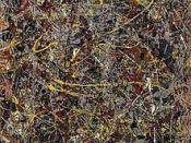 Jackson Pollock, No. 5, 1948, oil on fiberboard, 244 x 122 cm. (96 x 48 in.), private collection.