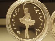 English: A Russian one ounce palladium ballerina coin Deutsch: Eine russische Palladium-Münze