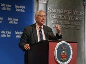 Ben Stein speaking at 2006 National Summit on Retirement Savings