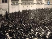 Français : Assemblée du soviet de Petrograd en 1917
