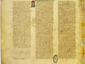 English: Page from Codex Vaticanus B (Bibl. Vat., Vat. gr. 1209; Gregory-Aland no. B or 03); Page containing Bible Texts 2Thess. 3,11-18, Hebr. 1,1-2,2.jpg