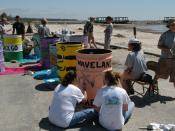 English: Waveland, Miss., April 22, 2006 - The annual trash can painting contest returns to Waveland. AmeriCorps*NCCC works with Waveland's Coleman Avenue Coalition on this children's event during National & Global Youth Service Day today. Geo