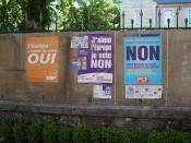 English: Posters for the French European referendum, 2005, Burgundy