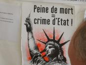 English: Death penalty = crime from the state, Fete de l'Humanité 2004