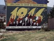 A mural in Belfast depicting the Easter Rising of 1916