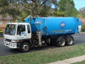 Automated Side Loader garbage truck in Canberra ACT