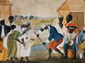 English: The Old Plantation, ca. 1790-1800. Watercolor by unidentified artist. Original painting in Abby Aldrich Rockefeller Folk Art Museum, Williamsburg, Virginia.