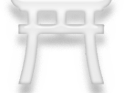 Symbol of Shintoism, white version.