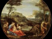 Annibale Carracci - Rest on Flight into Egypt - WGA4438