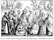 Gipsies Fortune-telling.--Fac-simile of a Woodcut in the