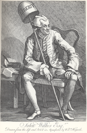 John Wilkes authored pamphlets critical of the British government.