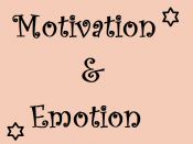 English: Title of motivation and emotion