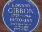 English: Blue plaque to Edward Gibbon on Bentinck Street, London