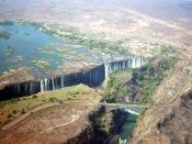 Victoria Falls from the sky, September 2003 Photo by Vberger