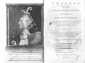 English: Frontispiece and title page of William Bartram's Travels, 1791