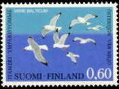 English: Postage stamp depicting seagulls of the Baltic sea (Mare Balticum), referring to environmental issues