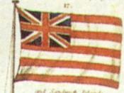 English: British East India Company flag. Image from flag chart by R.H. Laurie, 1842.