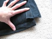 Velcro edge and closing-up edge