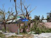 Damage from Hurricane Charley on Captiva Island, Florida