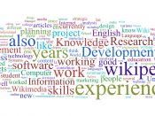 A word cloud generated from the skills statements from the strategy:Call for participation.