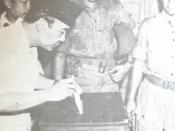 President Sukarno voting in the 1955 Indonesian legislative election