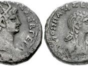 EGYPT, Alexandria. Nero, with Poppaea. :AD 54-68. Tetradrachm (24mm, 12.49 g, 12h). Dated RY 10 (AD 63/4). ::Radiate head of Nero right ::Draped bust of Poppaea Sabina right; date in right field. :Köln 157-158; Dattari 196; Milne 217-221; Emmett 128. VF,