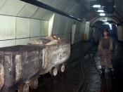 English: Coal miner in Xingtai, China