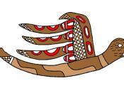 English: Uktena design of the Southeastern Ceremonial Complex from the Mississippian culture
