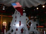 Iwo Jima flag raising in legos
