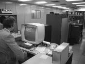 Electronic data processing in the Volkswagen factory Wolfsburg, 1973
