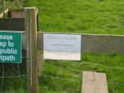Warning notice near Spring Hill, Grendon Underwood - geograph.org.uk - 1284845