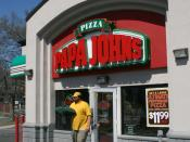 English: Phil, an employee takes fresh pizzas out for delivery at Papa John's Pizza #639 at 1018 West Main Street in Durham, North Carolina.