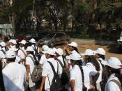 Hassan, parade of girls in white
