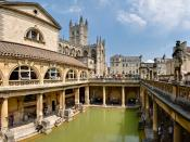 The Roman Baths (Thermae) of Bath Spa, England. This is a 6 segment panorama taken by myself with a Canon 5D and 24-105mm f/4L IS lens.